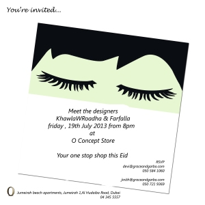 An evening with Farfalla and KhawlawRoadha at O-Concept Store.