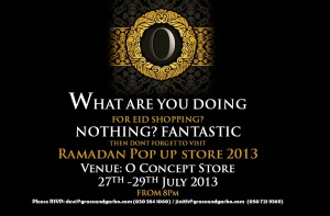 Ramadan Pop up Store at O-Concept Store, Dubai.